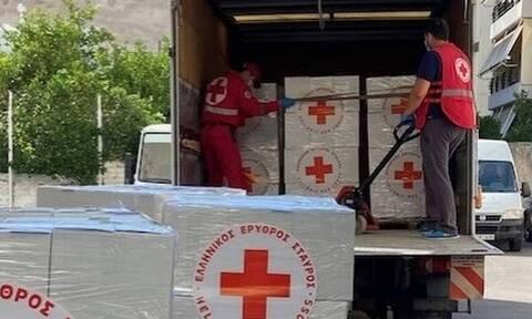 Στο πλευρό του λαού του Λιβάνου ο Ελληνικός Ερυθρός Σταυρός
