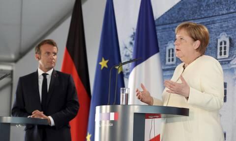 Συνάντηση Μέρκελ-Μακρόν: Οι εντάσεις στη Μεσόγειο στο επίκεντρο