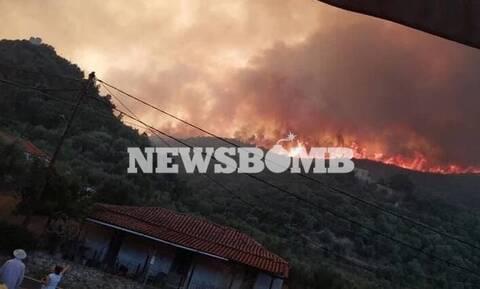Φωτιά στη Μάνη: Μάχη με τις αναζωπυρώσεις δίνει η Πυροσβεστική