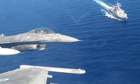 Κοινή αεροναυτική άσκηση Ελλάδας-ΗΠΑ - Εντυπωσιακές εικόνες και βίντεο