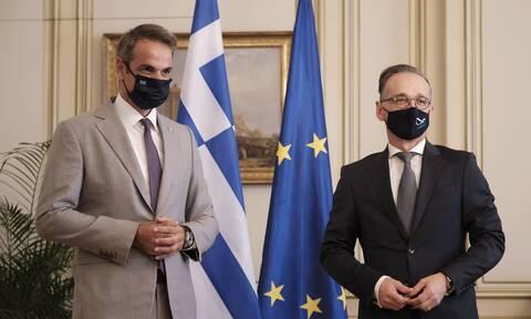 Στην Αθήνα ο Μάας: Συναντήθηκε με τον Μητσοτάκη - Ζήτησε τερματισμό των προκλήσεων
