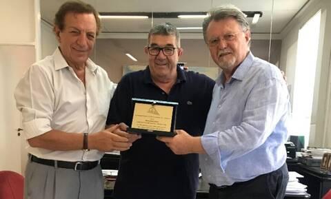Τιμητική βράβευση του Σοφοκλή Ξυνή από τον Σύνδεσμο Προπονητών Ποδοσφαίρου Αθηνών