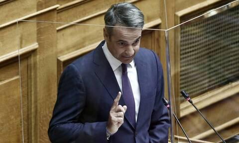 Live η δευτερολογία Μητσοτάκη στη Βουλή: «Το παρών είναι απών»