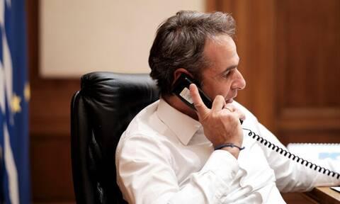 Τηλεφωνική επικοινωνία Μητσοτάκη - Τραμπ