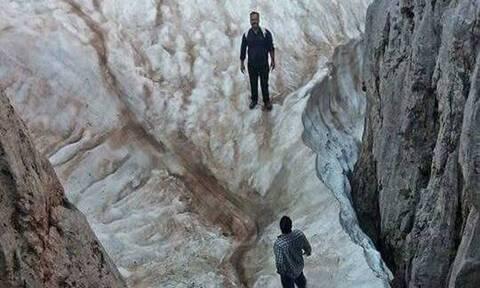 Αυτό είναι το μοναδικό σημείο της Κρήτης που θα βρεις χιόνια τον Αύγουστο! (pic)