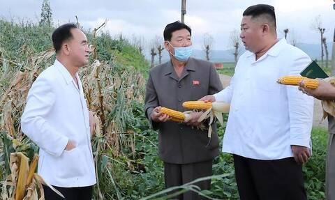 Κιμ Γιονγκ Ουν: Ζει και βασιλεύει και μαζεύει... καλαμπόκια! (pics)