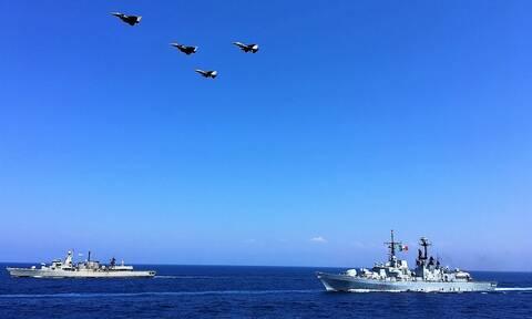 Άσκηση Eunomia: Δέος! Τετραμερής ασπίδα κατά της Τουρκίας στην αν. Μεσόγειο (pics+vids)