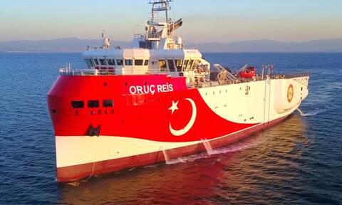 Νέα τουρκική NAVTEX για το Oruc Reis - Μένει στην ελληνική υφαλοκρηπίδα μέχρι 20 Σεπτεμβρίου