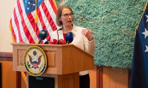 Αμερικανίδα πρέσβειρα στην Κύπρο: Προσβλέπω στη συνέχιση της συνεργασίας ΗΠΑ - Κύπρου