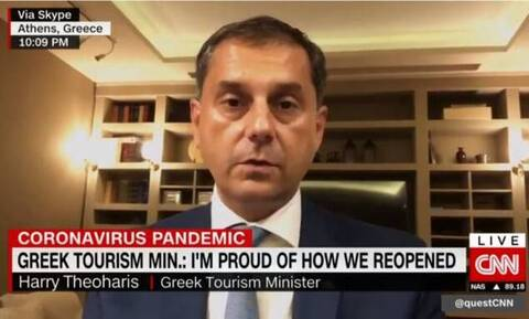 Θεοχάρης στο CNΝ: Είμαι υπερήφανος για το πώς ανοίξαμε τον τουρισμό στην Ελλάδα