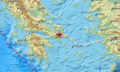 Σεισμός Αττική: Δείτε το επίκεντρο του σεισμού (pics)