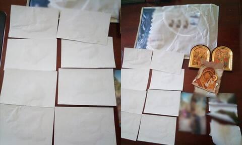 Δομοκός: Ιερόσυλοι πήγαν να περάσουν ηρωίνη σε εικόνες της Παναγίας