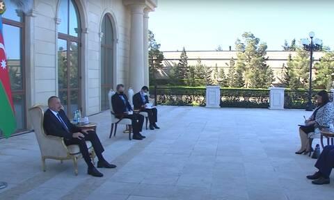 Πρόεδρος Αζερμπαϊτζάν σε Έλληνα πρέσβη: Υποστηρίζουμε σε όλα τους Τούρκους αδερφούς μας