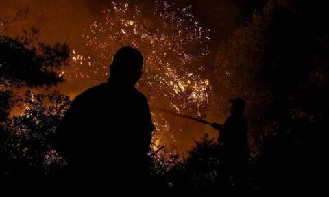 Φωτιά ΤΩΡΑ στα Διαβατά Θεσσαλονίκης