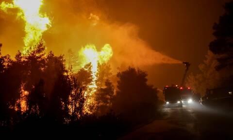 Φωτιά στην Κεφαλονιά: Δύσκολη νύχτα στο Καπανδρίτι - Εκκενώνεται το χωριό