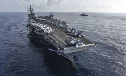 Κορονοϊός: Εντοπίστηκαν κρούσματα σε ναύτες του αεροπλανοφόρου USS Ronald Reagan