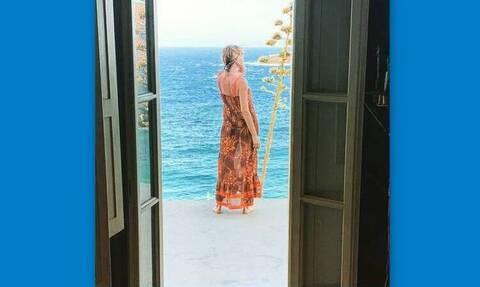 Τζένη Μπαλατσινού: Το σπίτι της εγκυμονούσας στην Πάτμο είναι «παράδεισος»!