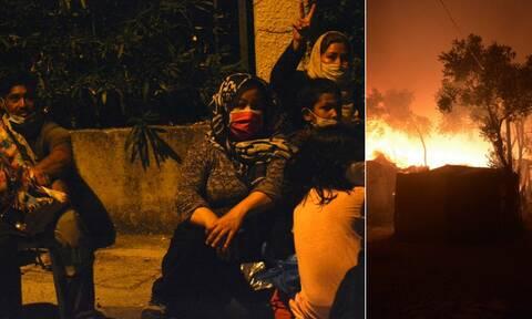 Φωτιά στη Μόρια: Χιλιάδες μετανάστες στο δρόμο για την πόλη της Μυτιλήνης