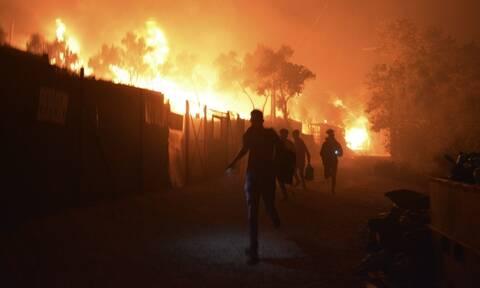 Μόρια: Εικόνες σοκ από την πυρκαγιά και φόβοι για νεκρούς - Κάηκε ολοσχερώς το ΚΥΤ