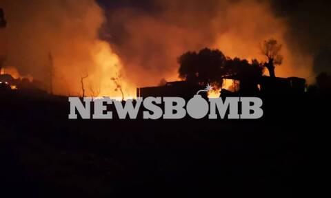 Φωτιά στη Μόρια: Υπό έλεγχο οι νέες εστίες - Πλήρης καταστροφή στο ΚΥΤ