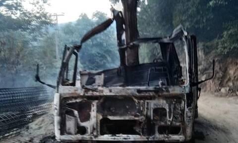 Πήλιο: Φορτηγό –«βόμβα» με εύφλεκτο υλικό