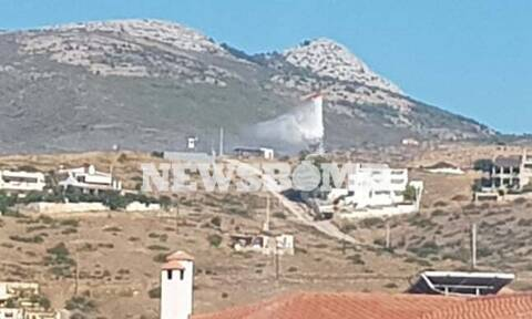 Wildfire starts in Neos Voutzas, Attica; inhabited areas not threatened