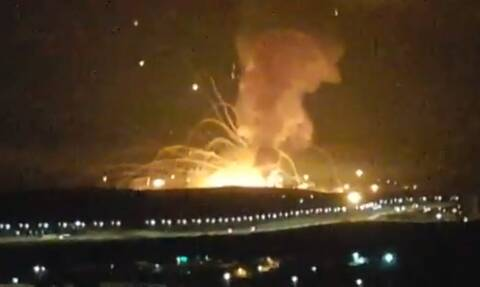 Ιορδανία: Τεράστια έκρηξη σε στρατιωτική βάση - Συγκλονιστικά βίντεο