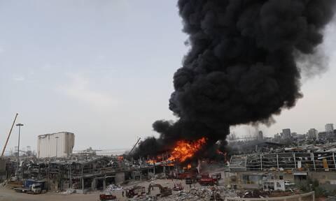 Βηρυτός: Δολιοφθορά εξετάζει η κυβέρνηση του Λιβάνου για τη νέα πυρκαγιά στο λιμάνι