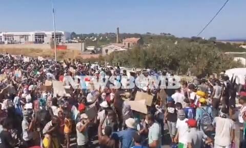 Μόρια: Διαμαρτυρία μεταναστών στο Καρά Τεπέ - «Θέλουμε να φύγουμε»