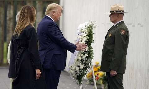 Ο πρόεδρος Τραμπ και ο πρώην αντιπρόεδρος Τζο Μπάιντεν τίμησαν την επέτειο της 11ης Σεπτεμβρίου