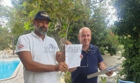 Το συγκινητικό «ευχαριστώ» στο κρητικό χωριό που υποστήριξε τις ελληνικές φρεγάτες (pics)