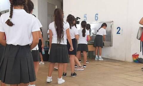 Κύπρος: Με νούμερα... βγαίνουν οι μαθητές για διάλειμμα στα Δημοτικά Σχολεία (pics+vid)