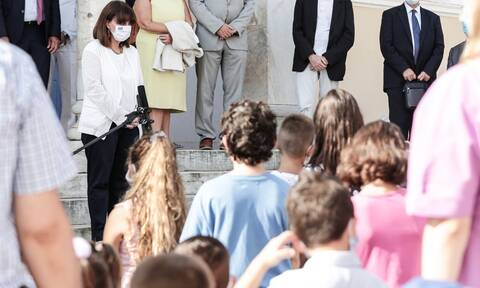 President Sakellaropoulou attends opening of school at Kastellorizo