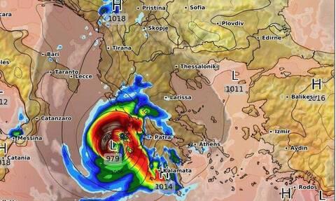 Medicane: Καρέ - καρέ ο εντυπωσιακός σχηματισμός του κυκλώνα και το πέρασμα απ' την Ελλάδα