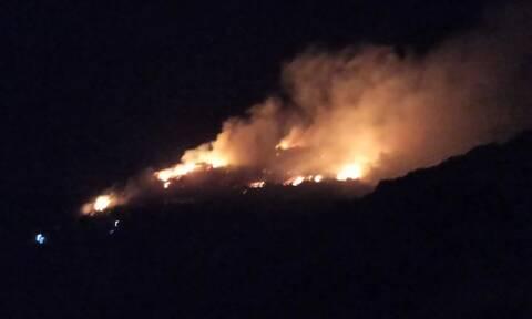 Φωτιά στη Σάμο: Χωρίς ενεργό μέτωπο η πυρκαγιά κοντά στο ΚΥΤ
