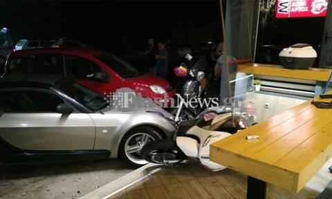 Χαμός στα Χανιά: Αλβανός μπούκαρε με αυτοκίνητο σε κατάστημα για να χτυπήσει συμπατριώτη του