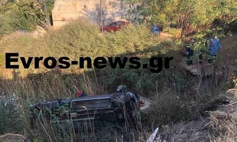 Αλεξανδρούπολη: Τρομακτικό τροχαίο με 11 τραυματίες - Φορτηγό έπεσε από γέφυρα