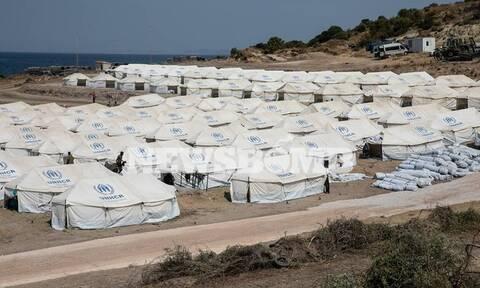 Μυτιλήνη: «Φρούριο» ο καταυλισμός του Καρά Τεπέ με ισχυρή αστυνομική παρουσία