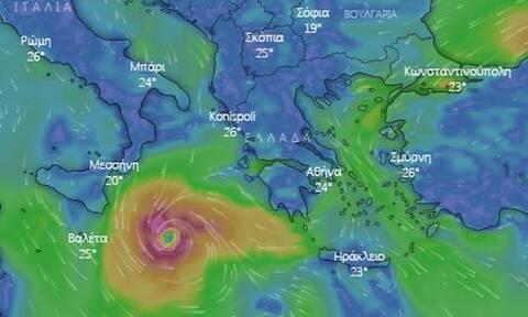 Κακοκαιρία «Ιανός»: Δείτε LIVE την πορεία του - Προ των πυλών ο μεσογειακός κυκλώνας