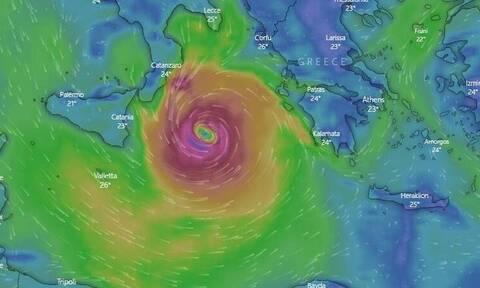 Κακοκαιρία «Ιανός»: Live ΕΔΩ η πορεία του μεσογειακού κυκλώνα