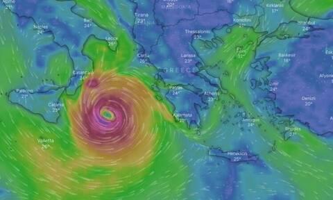 Κακοκαιρία «Ιανός»: Ποιες περιοχές βρίσκονται στο «μάτι» του μεσογειακού κυκλώνα