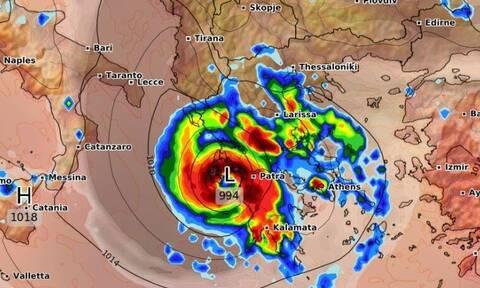 Ιανός: Κλείδωσε η πορεία του. Αυτές οι περιοχές θα μπουν στο «μάτι» του κυκλώνα