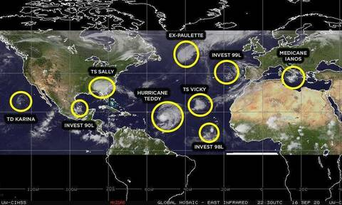 Καιρός: Ο πλανήτης σε πολιορκία! Οι θάλασσες γεννούν καιρικά τέρατα! 11 σε εξέλιξη...