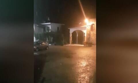Κακοκαιρία «Ιανός»: Έντονη βροχόπτωση σε Ηλεία και Μεσσηνία (vid)