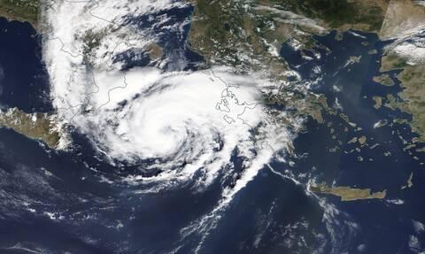 Κακοκαιρία «Ιανός»: Αυτή είναι η τελευταία δορυφορική φωτογραφία του κυκλώνα
