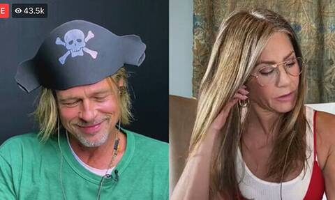 Jennifer Aniston- Brad Pitt: Φλερτάρουν on air