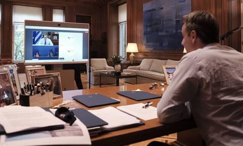 PM Mitsotakis has video call with von der Leyen, Merkel about new Mytilene hotspot