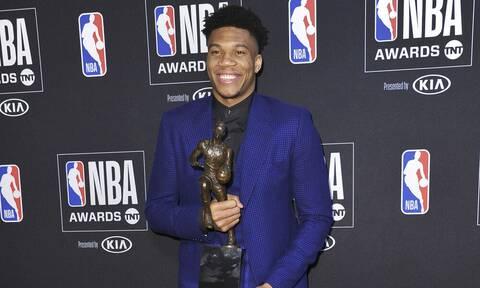 ΝΒΑ: MVP για δεύτερη σερί σεζόν ο Γιάννης Αντετοκούνμπο!