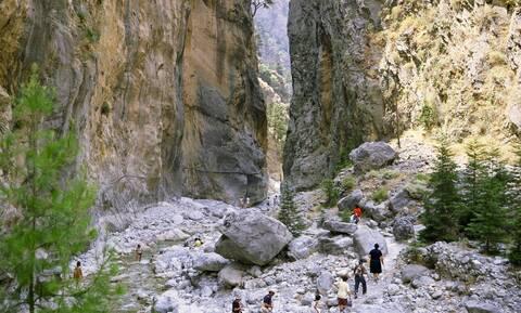 Κακοκαιρία «Ιανός»: Κλειστός Σάββατο και Κυριακή ο Εθνικός Δρυμός Σαμαριάς