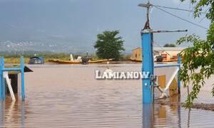 Κακοκαιρία «Ιανός»: «Πνίγηκε» το αεροδρόμιο της Λαμίας - Συγκλονιστικές εικόνες